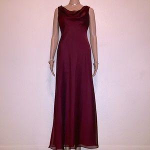 Formal Burgundy Dress by Betsy & Adam